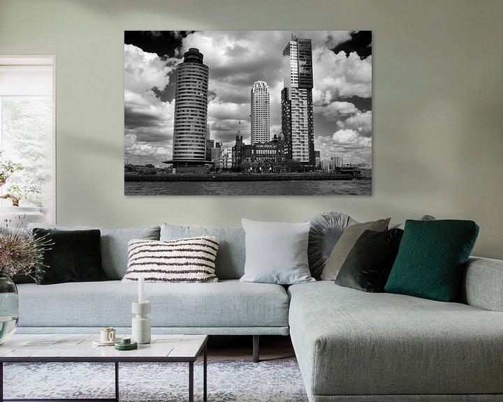 Sfeerimpressie: Rotterdam vanaf het water (Kop van Zuid) van Thomas van der Willik