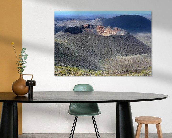 Sfeerimpressie: Vulkaankraters, Lanzarote van Inge Hogenbijl