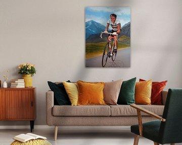 Joop Zoetemelk schilderij van Paul Meijering