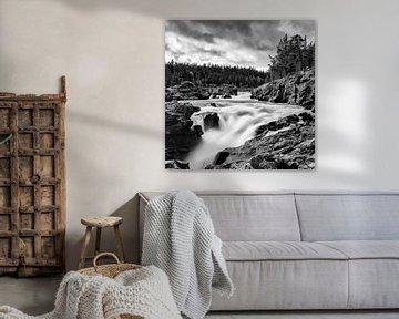 Wasserfall bei Ritterspranget, Norwegen von Johan Zwarthoed
