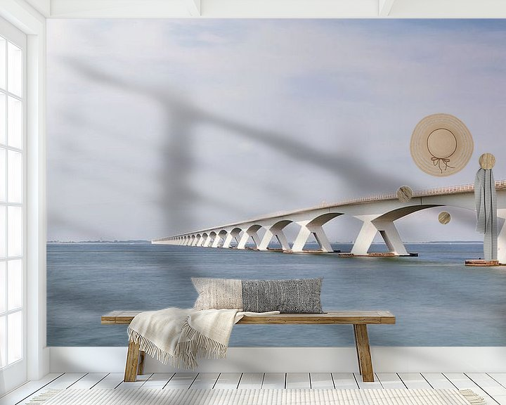 Sfeerimpressie behang: Zeeland Bridge van Ben van Sambeek