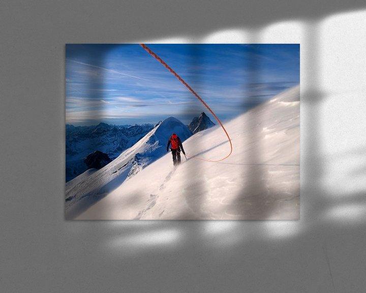 Beispiel: Bergsteiger auf dem Breithorn von Menno Boermans