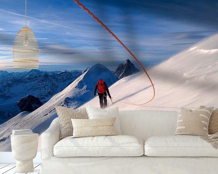 Beispiel fototapete: Bergsteiger auf dem Breithorn von Menno Boermans