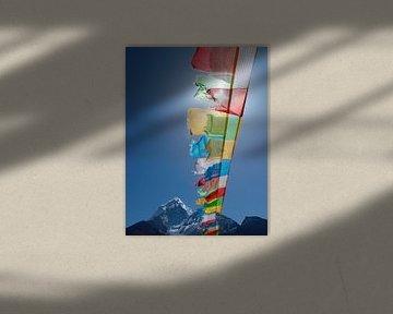 Drapeaux de prière bouddhistes Himalaya sur Menno Boermans