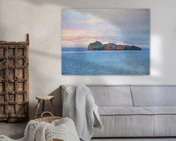 Blick auf Elliðaey, Island von Frans Blok