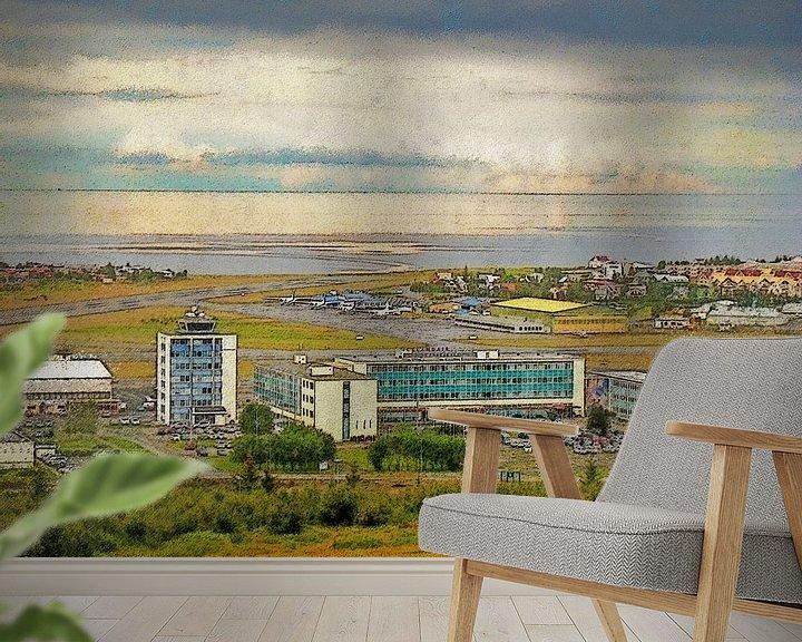 Sfeerimpressie behang: Zomer in Vatnsmyri, IJsland van Frans Blok