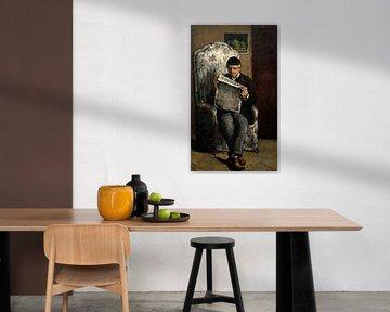 """der Vater des Künstlers, Lesen """" L' Événement """", Cézanne"""