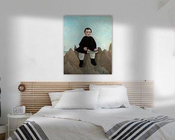Junge auf den Felsen, Henri Rousseau