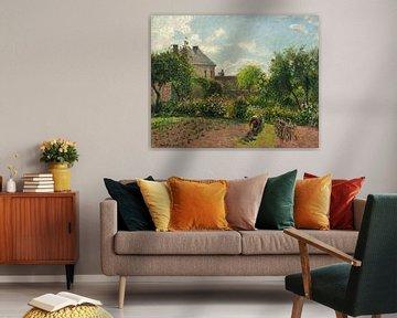 Der Garten des Künstlers bei Eragny, Camille Pissarro