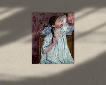 Mädchen, ihr Haar, Mary Cassatt