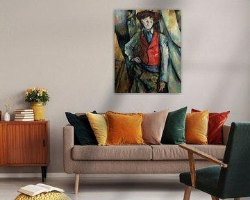 Junge in einer Roten Weste, Paul Cézanne