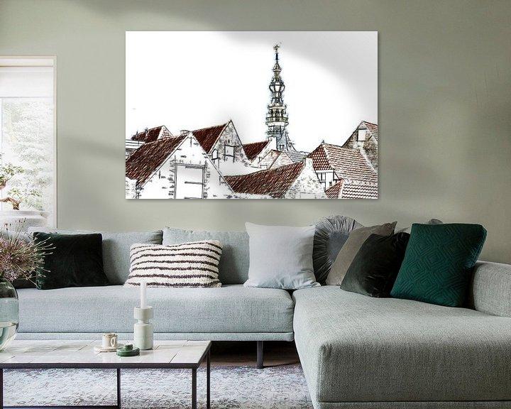 Sfeerimpressie: De daken van Zierikzee van Mike Bing