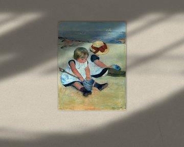 Kinder, die auf dem Strand spielen, Mary Cassatt