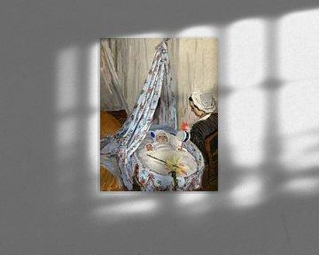 de wieg, Camille met de Artist's Zoon Jean, Claude Monet
