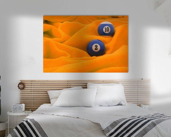 Sfeerimpressie: Blauw op oranje van Bas Smit