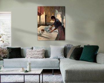Frau Bügeln, Edgar Degas