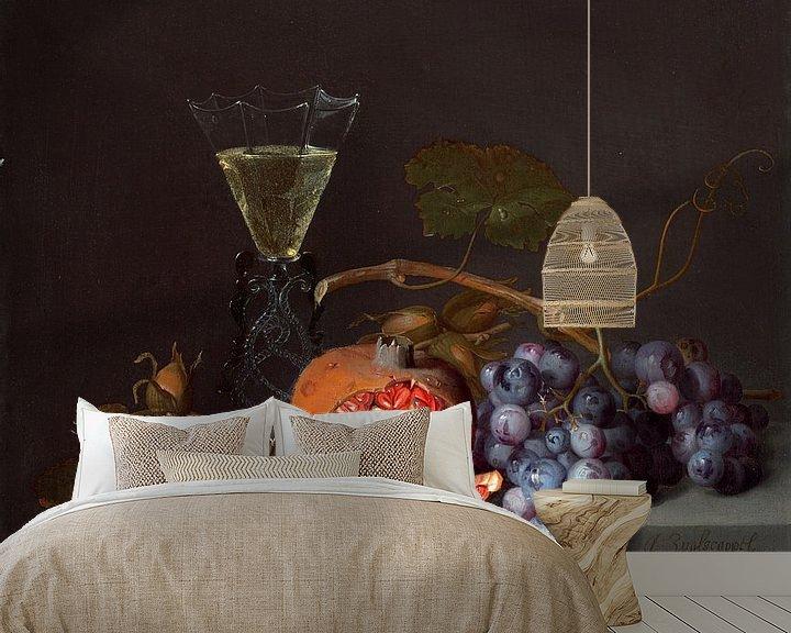 Beispiel fototapete: Stillleben mit Früchten, Jacob van Walscapelle