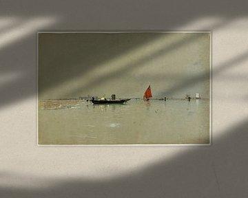Een Venetiaanse lagune, Amerikaans, William Stanley Haseltine
