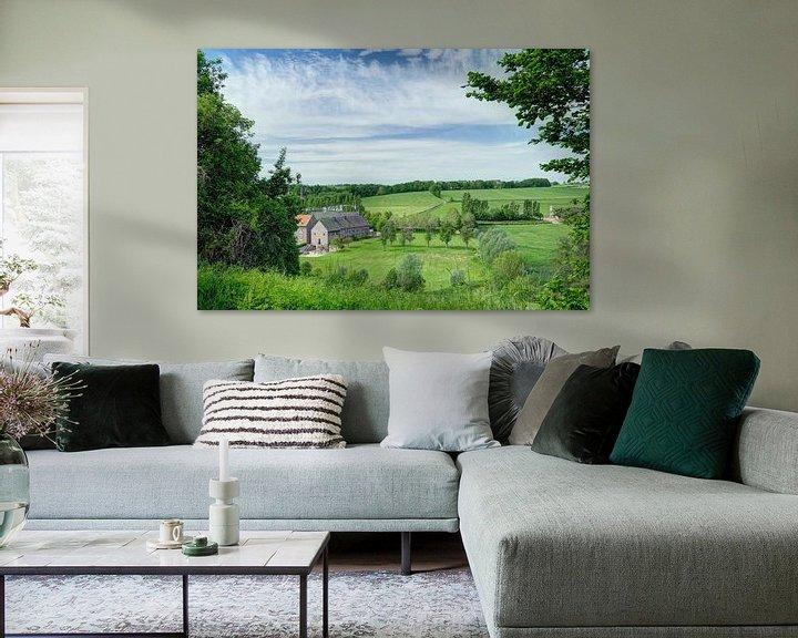 Sfeerimpressie: Vergezicht Limburgs landschap van Huub Keulers