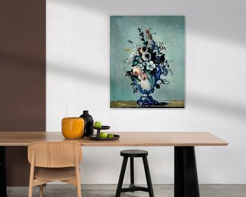 Blumen in einer Rokoko Vase, Paul Cézanne