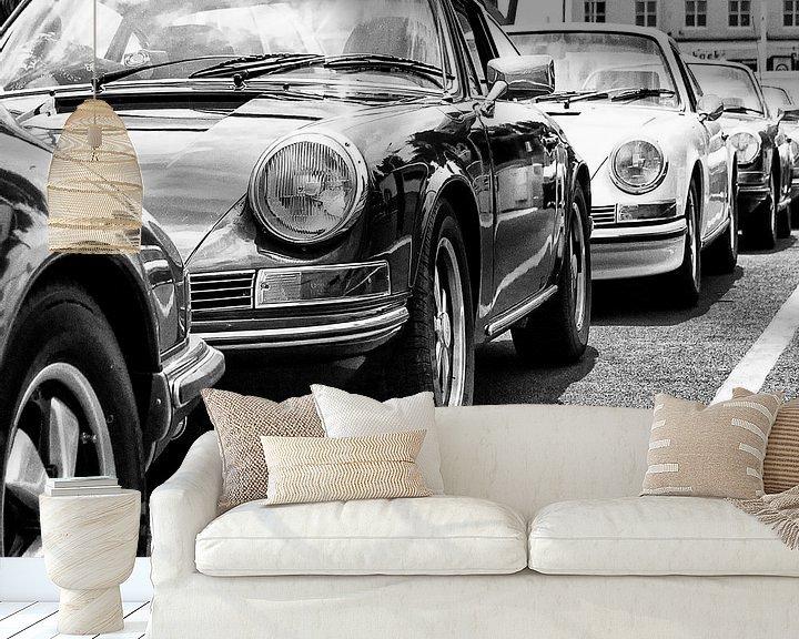Sfeerimpressie behang: Porsche klassiekers op een pont van 2BHAPPY4EVER.com photography & digital art