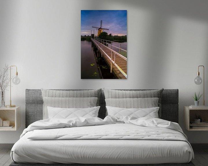 Sfeerimpressie: Een brug te ver? - Kinderdijk van Jan Koppelaar