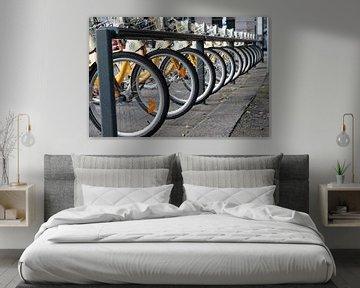 Stadsfietsen in Milaan. van Maren Oude Essink