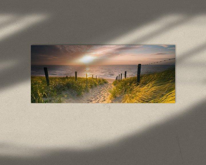 Sfeerimpressie: Strandopgang van Nico Zwanenburg