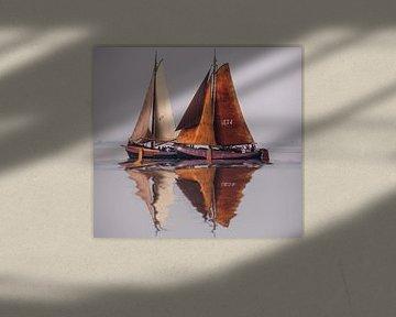 Antike niederländische Segelboote von Brian Morgan
