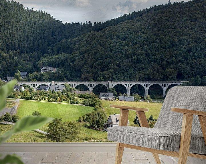 Sfeerimpressie behang: Brug van Willingen, Duitsland van Jaap Mulder
