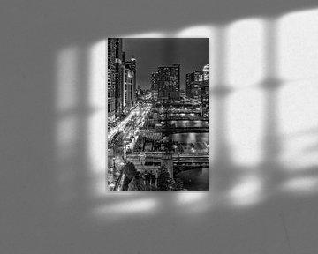 CHICAGO RIVER Brücken von Melanie Viola