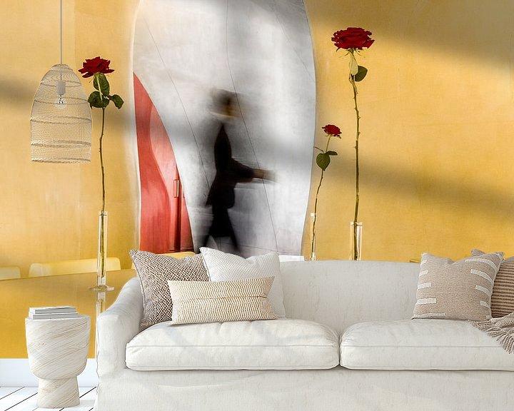 Sfeerimpressie behang: Yellow Magic Restaurant, Paris 2012 van Xlix Fotografie