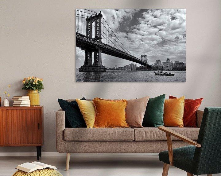 Sfeerimpressie: Manhattan Bridge 03 van Peter Bongers