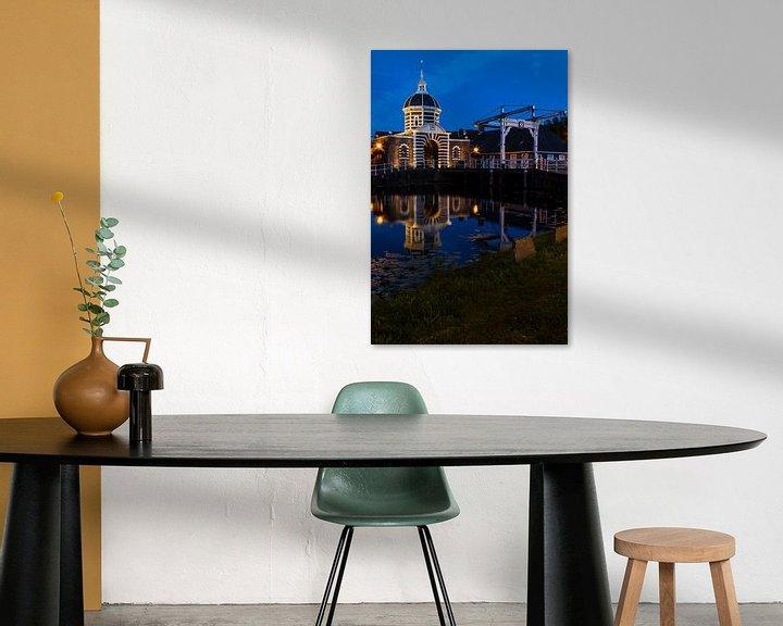 Sfeerimpressie: Morspoort  Leiden in het licht van de maan van Leanne lovink