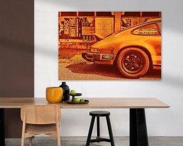 Sportlicher Porsche in Orange von 2BHAPPY4EVER.com photography & digital art