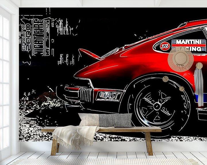 Beispiel fototapete: Klassische Porsche Outline von 2BHAPPY4EVER.com photography & digital art