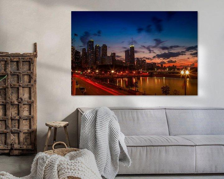 Sfeerimpressie: CHICAGO Zonsondergang van Melanie Viola