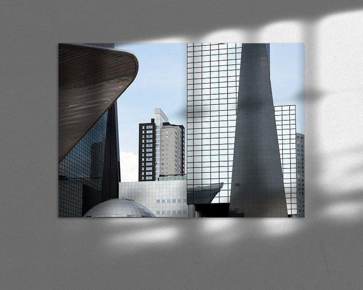 Beispiel: Moderne architectuur in Rotterdam centrum von Rob IJsselstein