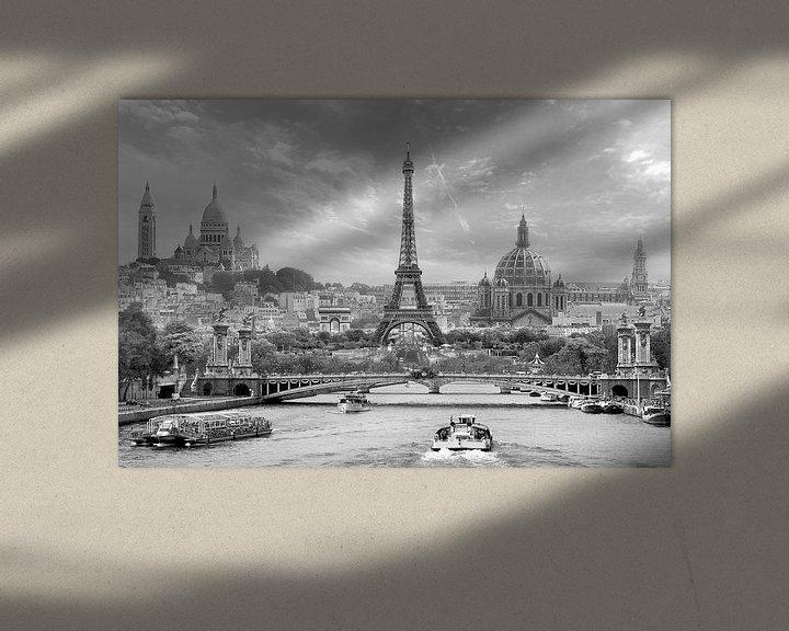 Sfeerimpressie: Parijs in een notendop z/w van Teuni's Dreams of Reality