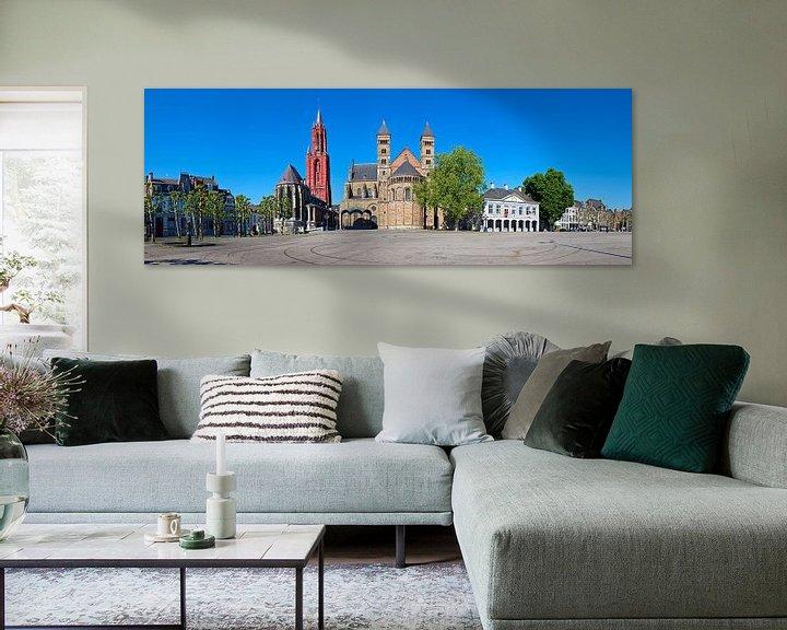Sfeerimpressie: Panorama Vrijthof Maastricht van Anton de Zeeuw