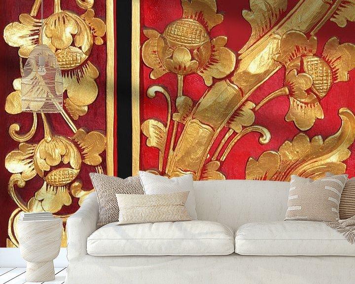 Sfeerimpressie behang: Paneeldeuren Bali van Inge Hogenbijl