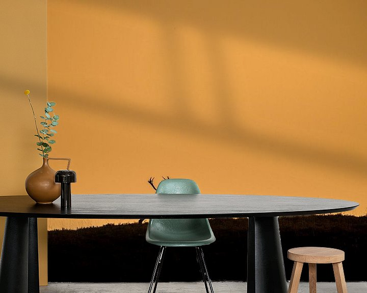 Sfeerimpressie behang: Edelhert in laatste zonlicht van Erwin Maassen van den Brink