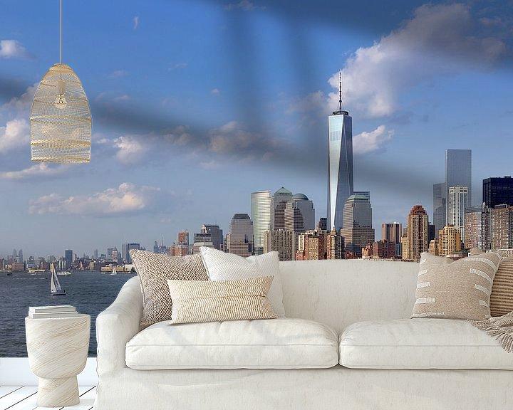 Sfeerimpressie behang: Manhattan vanaf het water van Teuni's Dreams of Reality