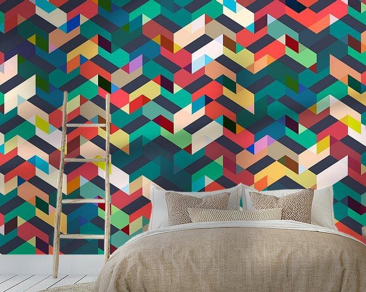 Sfeerimpressie behang: Pattern on Repeat van Harry Hadders