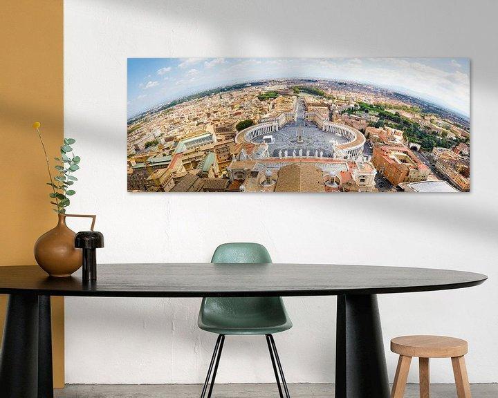 Sfeerimpressie: Uitzicht over Rome vanaf koepel van de St Pieter van Studio Wanderlove