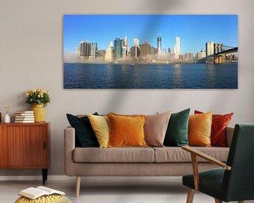 New York skyline Panorama mist von Mykon  Hendriks