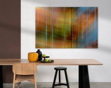 Colored wall #2 von Ruud de Soet