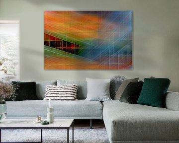 Colored wall #3 von Ruud de Soet