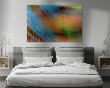 Colored wall #1 von Ruud de Soet