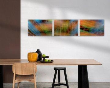 """Collage  """"Colored wall"""" von Ruud de Soet"""
